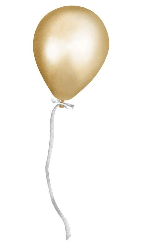Image of   Stickstay party ballon - gold