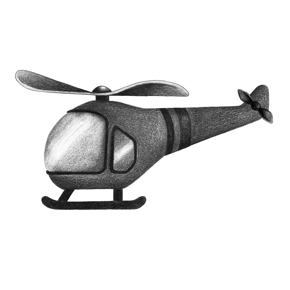 Image of   Stickstay helikopter graphit grey