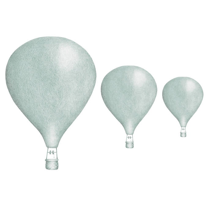 Image of   Stickstay luftballoner wallstickers - dusty mint
