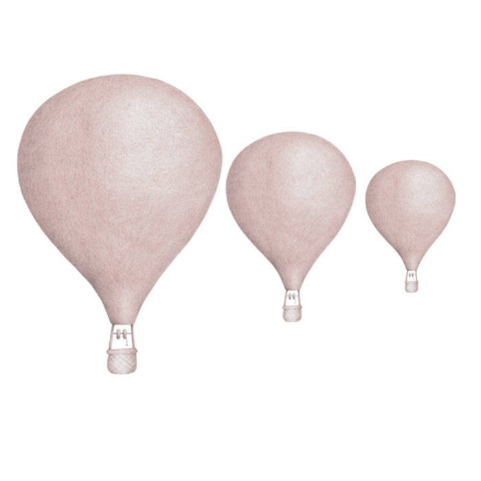 Image of   Stickstay luftballoner wallsticker - dusty pink