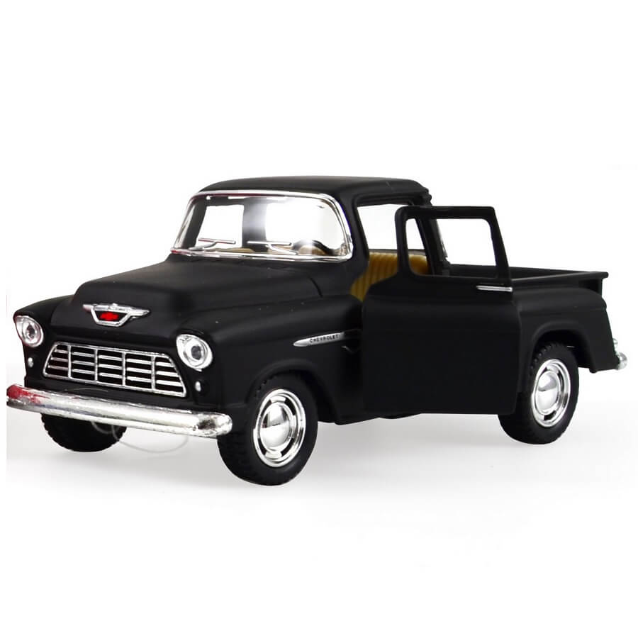 Image of   Magni Chevy stepside pick-up metalbil - sort