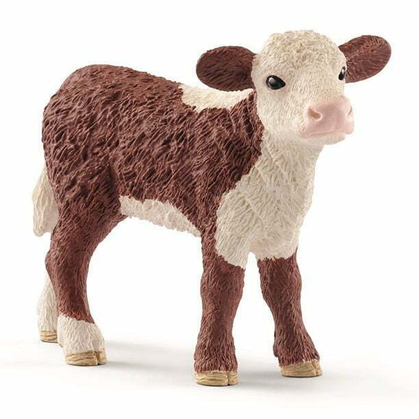 Image of   Schleich Hereford kalv broget